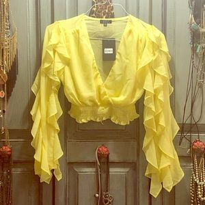 Canary yellow crop top